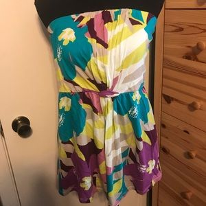 OLD NAVY neon floral tube top